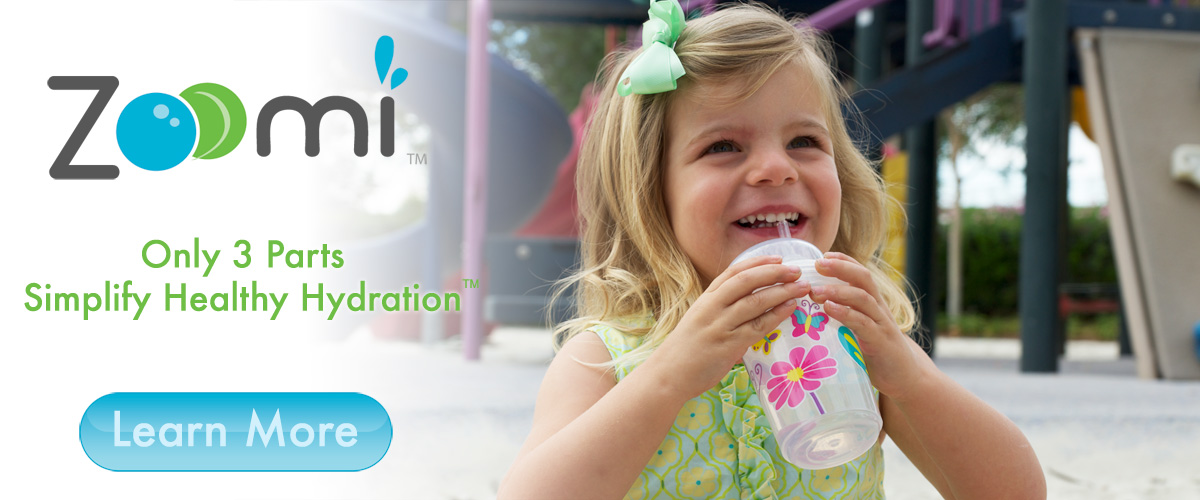 nuSpin Kids Zoomi straw cups have only 3 parts and no valves. Easy to drink from, simple to clean, and durable.